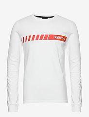 Superdry - Core Logo Sport Stripe Top - pitkähihaiset - optic - 0