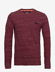 Superdry - Ol Vintage Emb Ls Top - perus t-paidat - brick red space dye - 0