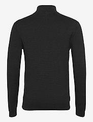 Superdry - COTTON KNIT HENLEY - half zip - black - 1