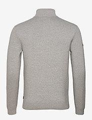 Superdry - COTTON KNIT HENLEY - half zip - light grey marl - 1