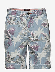 Superdry - NUE WAVE WASH SHORT - rennot - paradise chambray hibiscus - 0