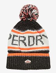Superdry - SUPERDRY LOGO BEANIE - bonnet - magma black twist/hazard orange - 0
