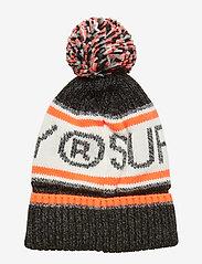 Superdry - SUPERDRY LOGO BEANIE - bonnet - magma black twist/hazard orange - 1
