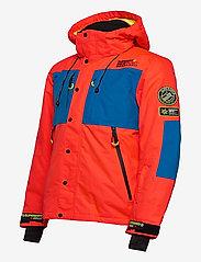 Superdry - SD MOUNTAIN JACKET - skijakker - volcanic orange/acid cobalt - 2