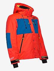 Superdry - SD MOUNTAIN JACKET - skijakker - volcanic orange/acid cobalt - 3