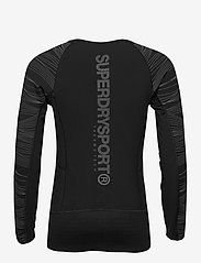 Superdry - PERFORMANCE INSULATE L/S TOP - thermo ondershirts - black - 1