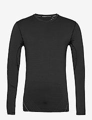 Superdry - PERFORMANCE FLOCK COMPRESSION LS TEE - t-shirts basiques - black - 0
