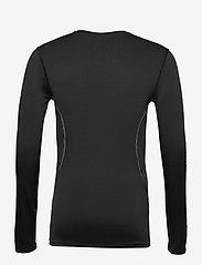 Superdry - PERFORMANCE FLOCK COMPRESSION LS TEE - t-shirts basiques - black - 1