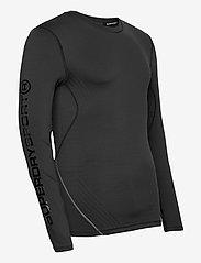 Superdry - PERFORMANCE FLOCK COMPRESSION LS TEE - t-shirts basiques - black - 3