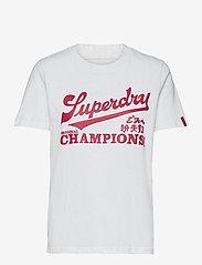 Superdry - COLLEGIATE CALI STATE TEE - t-shirt & tops - optic - 0
