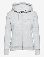 Superdry - OL CLASSIC ZIPHOOD - hoodies - light grey marl - 0