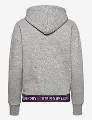 Superdry - SPORTSTYLE CHENILLE HOOD - hoodies - grey slub grindle - 1