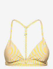 Superdry - T BACK FIXED TRI BIKINI TOP - bikini tops - pigment yellow - 0