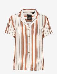 Superdry - ARIZONA VINTAGE SHIRT - overhemden met korte mouwen - orange stripe - 0