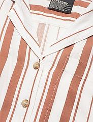 Superdry - ARIZONA VINTAGE SHIRT - overhemden met korte mouwen - orange stripe - 2