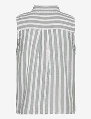 Superdry - SLEEVELESS SHIRT - sleeveless blouses - mint stripe - 1