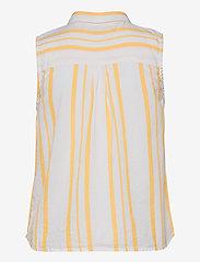Superdry - SLEEVELESS SHIRT - Ärmellose blusen - yellow stripe - 1