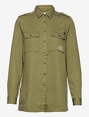 Superdry - MILITARY SHIRT LONG - clothing - trekking olive - 0