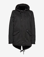Superdry - FALCON ROOKIE PARKA - parka coats - military black - 2