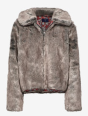 Superdry - Boho Faux Fur Jacket - faux fur - mink - 0