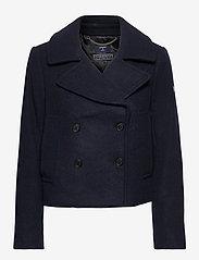 Superdry - Wool Crop Peacoat - wool jackets - eclipse navy - 0
