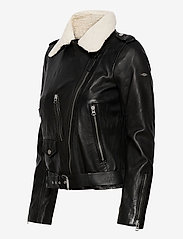 Superdry - Aviator Leather Biker - skinnjackor - black - 3