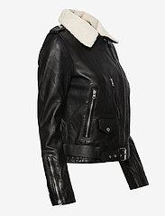 Superdry - Aviator Leather Biker - skinnjackor - black - 4