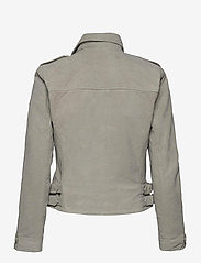 Superdry - CLASSIC SUEDE BIKER - leather jackets - stone - 1