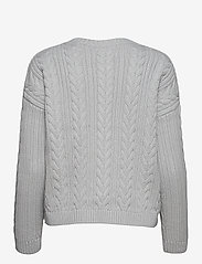 Superdry - DROPPED SHOULDER CABLE CREW - jumpers - light dove grey - 1