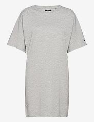 COTTON MODAL TSHIRT DRESS - MID MARL