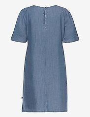 Superdry - TENCEL TSHIRT DRESS - midi dresses - light wash - 1