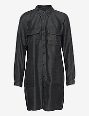 TENCEL OVERSIZED SHIRT DRESS - BLACK WASH
