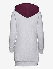 Superdry - COLLEGIATE VARSITY SWEAT DRESS - t-shirt dresses - ice marl - 1