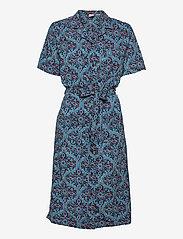 Superdry - PRINTED SHIRTDRESS - summer dresses - navy printed - 0