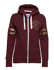 TRACK & FIELD ZIPHOOD - TRACK BURGUNDY