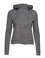 SUPERDRY CORE GYM ZIPHOOD - CHARCOAL GRIT