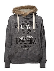 APPLIQUE FUR SLOUCH HOOD - STONE MARL NEP