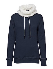 ZINNIA SHERPA FUNNEL SWEAT - NIGHTSKY NAVY RUGGED