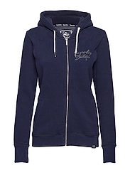 ROCK BLING ZIPHOOD - REGAL NAVY