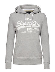 V LOGO SPORT ENTRY HOOD - GREY MARL
