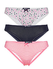 SUPER STANDARD BRIEF TRIPLE PACK - PINK NAVY DITSY