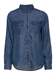 XENIA ACID WASH SHIRT - BLUE ACID WASH
