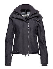 HOOD FUR SHERPA WIND ATTACKER - MID CHARCOAL MARL/BLACK