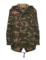 ROOKIE OVERSIZED PARKA - CAMO PATCHED
