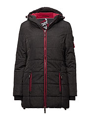 TALL SPORTS PUFFER - BLACK MARL/REBEL RED