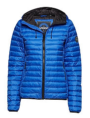 CORE DOWN HOODED JACKET - COBALT