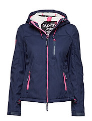 HOODED SHERPA WINDTREKKER - ECLIPSE NAVY MARL/ECRU