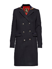 DUCHESS LONG WOOL COAT - BLACK