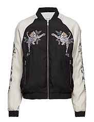 SUPER LUXE BOMBER - BLACK/TAUPE