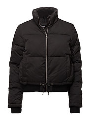 LUXE SPORTS BOMBER - BLACK